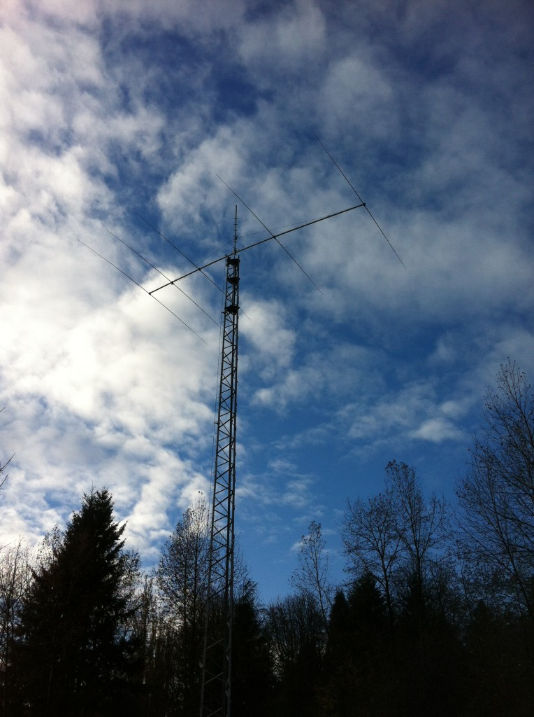 Tower 3 with 5-element 20m beam antenna.
